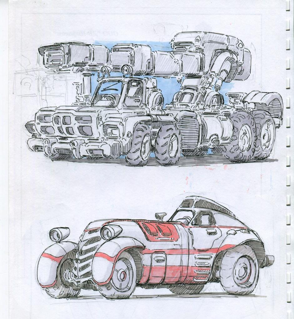 by nradiowave, подборка Зарисовки транспорта и всякой всячины, #транспорт #концепт #наброски #концепт_транспорта #робот