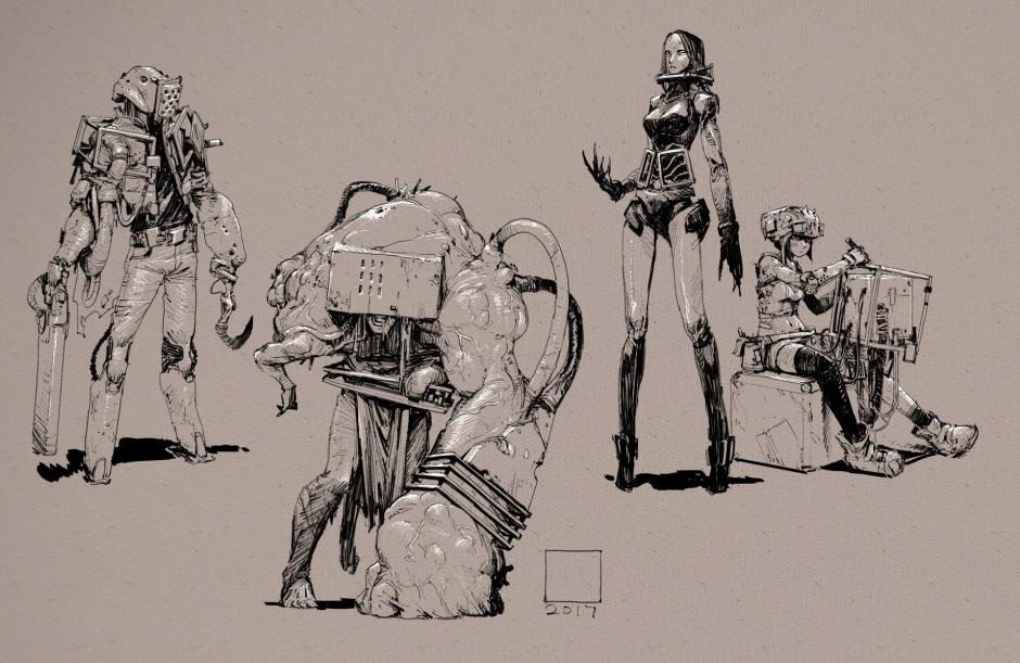рисунки, #tandi #художник #робот #наброски