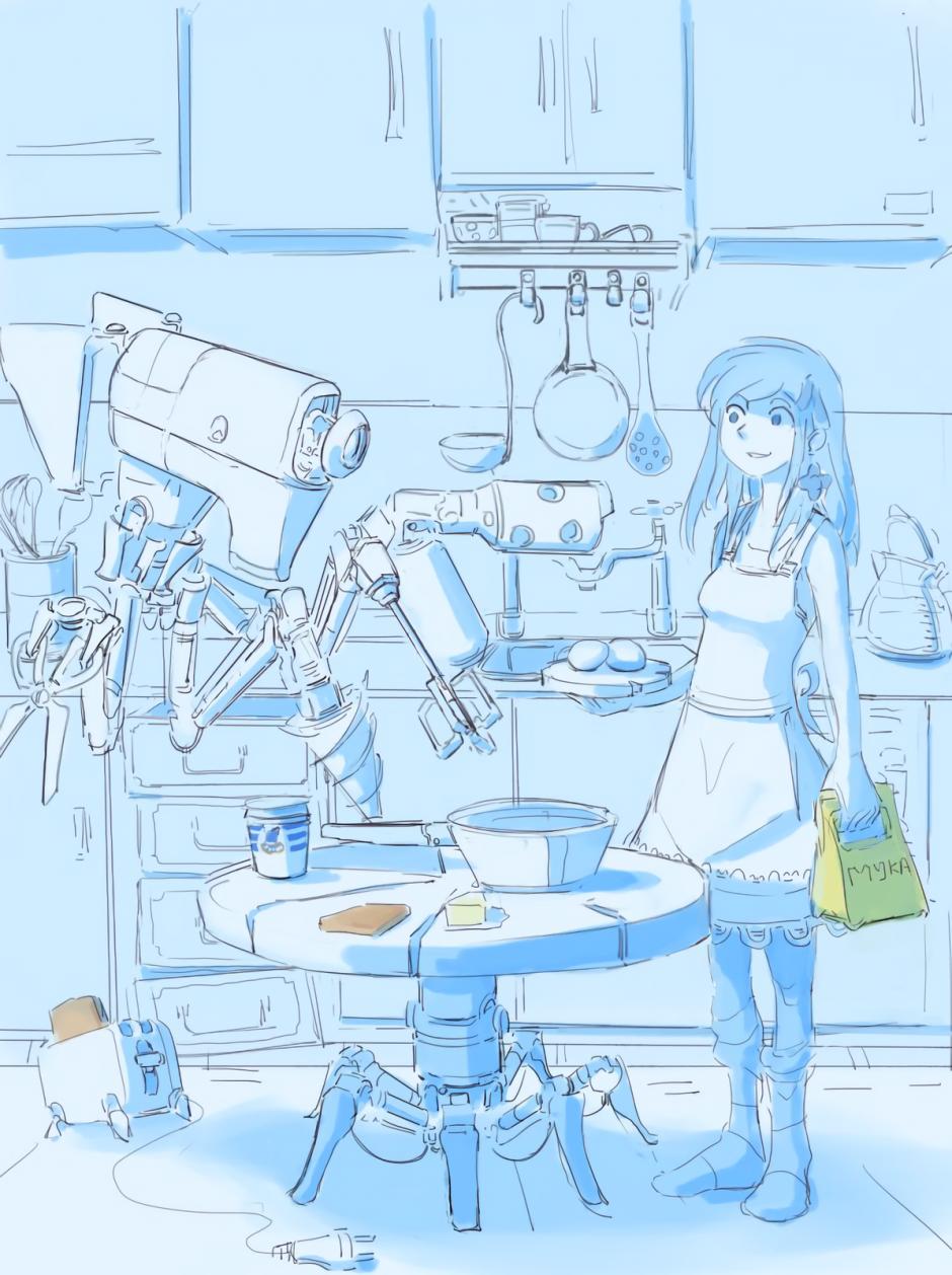 by nradiowave, подборка Готовим дома, #девушка #рисунки #кухня #готовка #блины