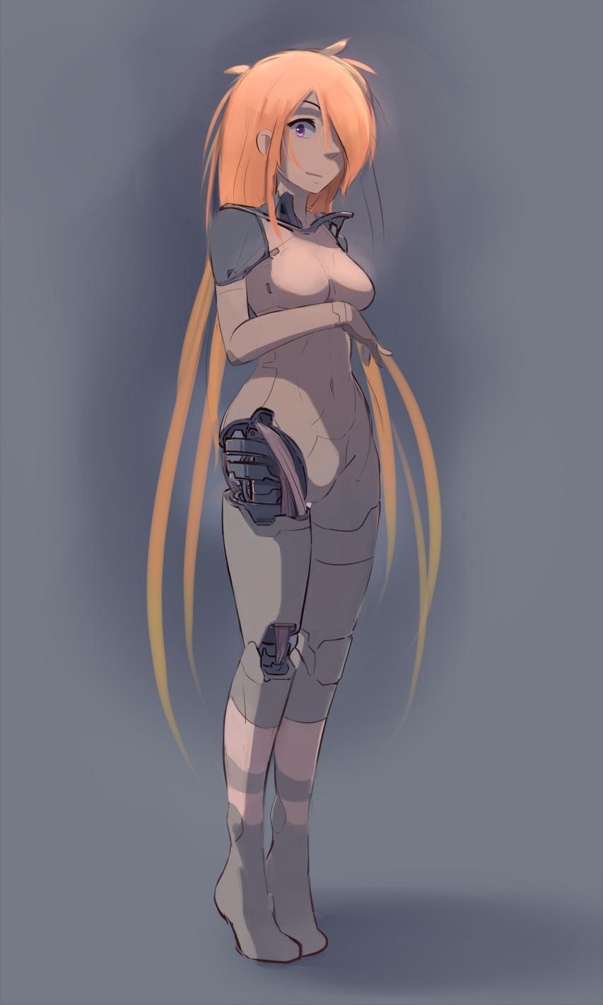 by nradiowave, подборка Наброски персонажей, #девушка #андроид #рисунки #cyborg