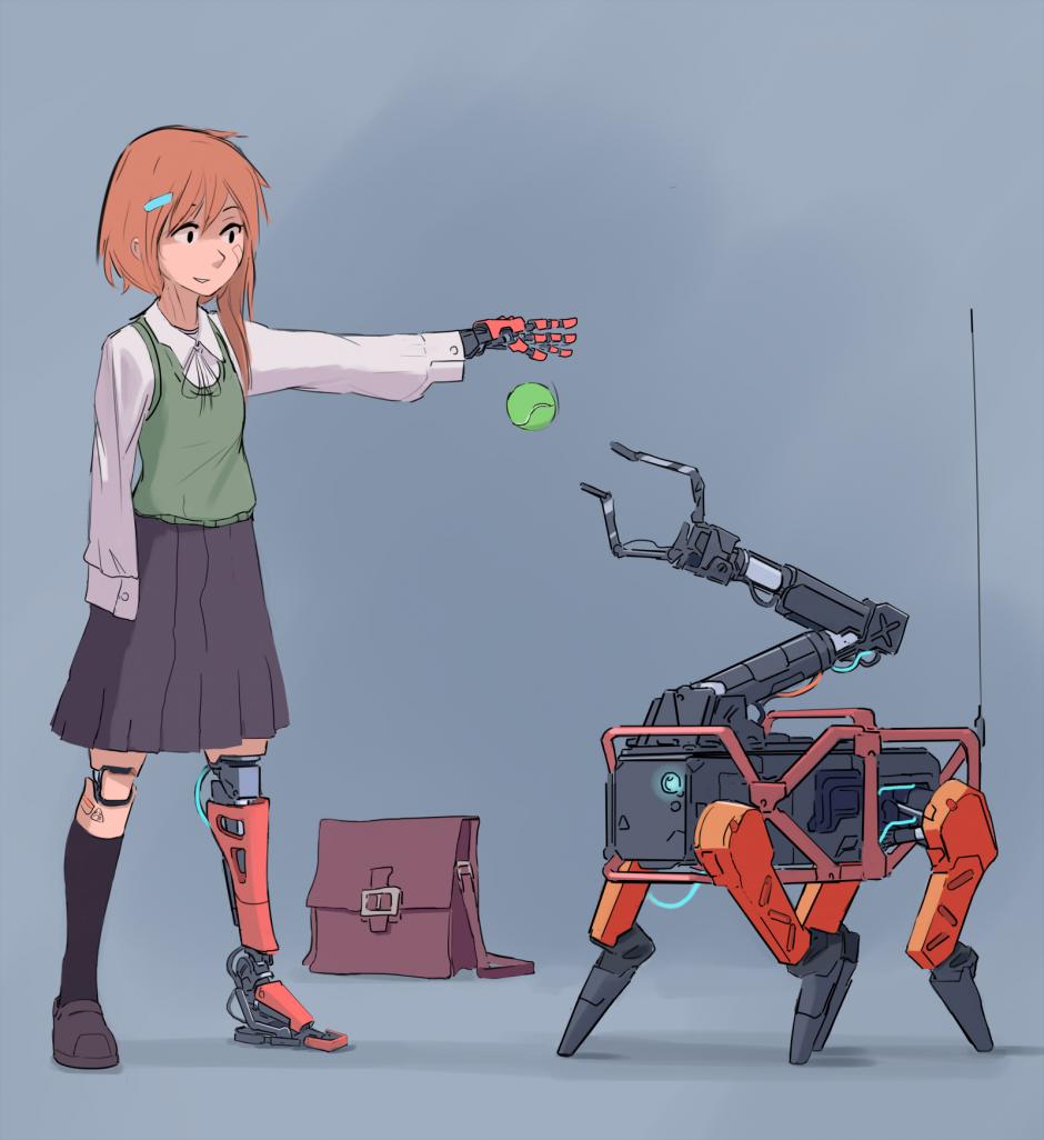 by nradiowave, подборка Без названия 46, #девушка #андроид #рисунки #робот #robodog